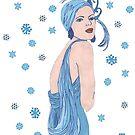 Blue Flapper Christmas by redqueenself