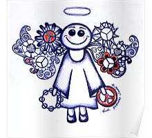 Peace Angel Blue Poster