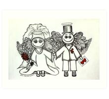 Wedding Angels Original Art Print