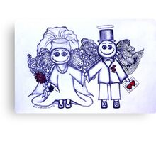 Wedding Angels Blue Canvas Print