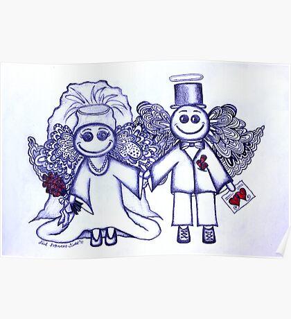 Wedding Angels Blue Poster