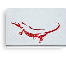 RED As A Reptile Canvas Print
