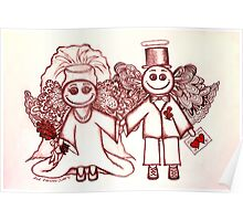 Wedding Angels Red Poster