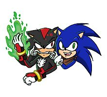 Sonic and Shadow Selfie Photographic Print