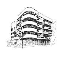 Tel Aviv Bauhaus  Photographic Print