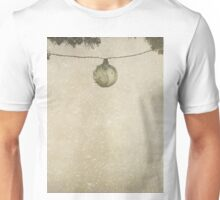 Christmas Baubles in the Snow Unisex T-Shirt