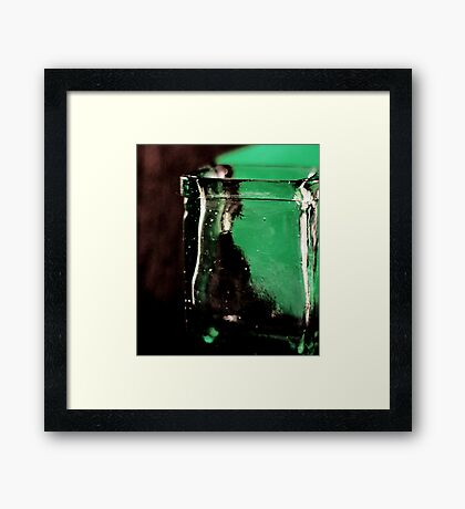 green and clear Framed Print