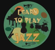 Learn to play jazz  One Piece - Short Sleeve