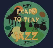 Learn to play jazz  Kids Tee