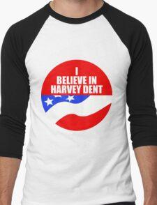 I Believe In Harvey Dent - Batman Dark Knight Political Logo Men's Baseball ¾ T-Shirt