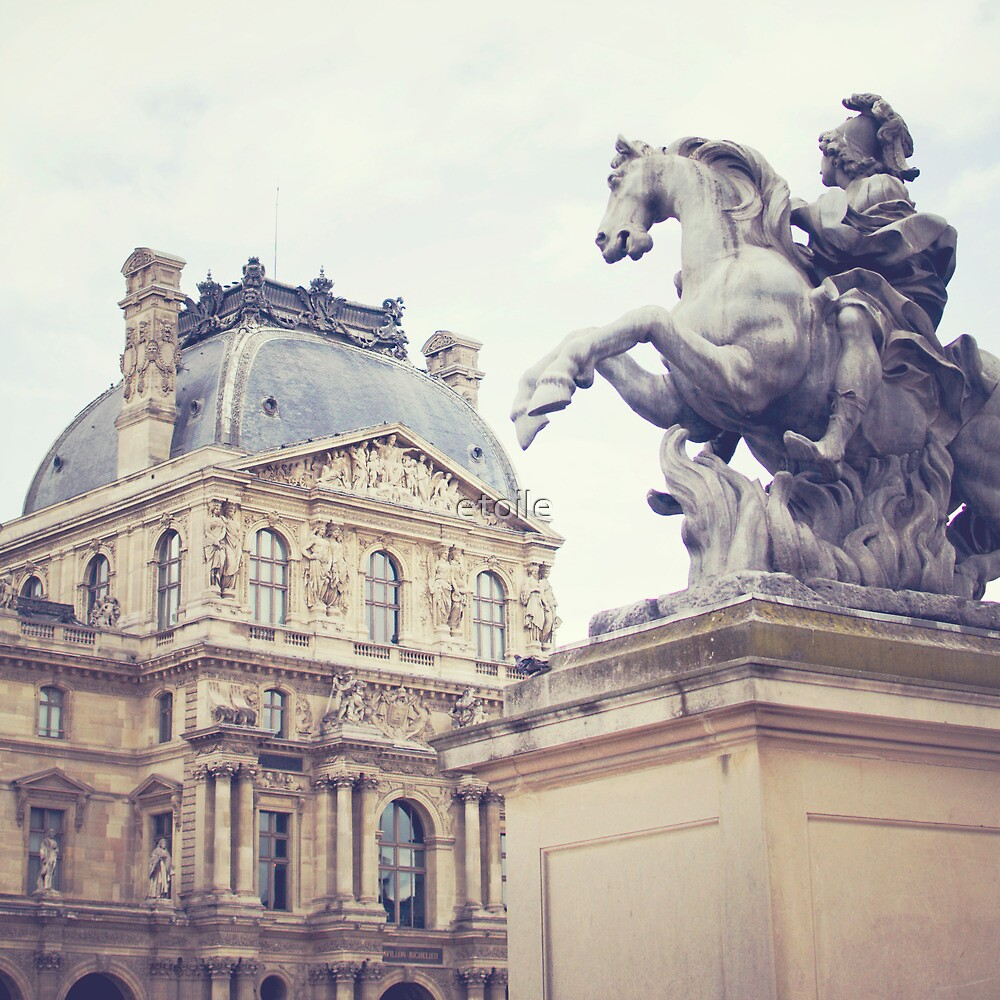 le louvre, paris by Natasha Calhoun