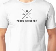 Peaky Blinders - Cross Logo - Black Clean Unisex T-Shirt