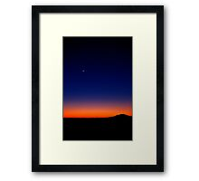 Outback Moon Framed Print