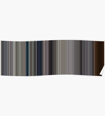 Moviebarcode: Full Metal Jacket (1987) [Simplified Colors] Poster