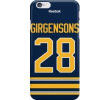 Buffalo Sabres Zemgus Girgensons Jersey Back Phone Case iPhone Case/Skin