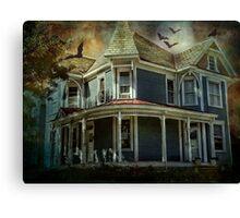 Batty Bates Motel Canvas Print