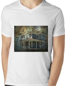 Batty Bates Motel Mens V-Neck T-Shirt