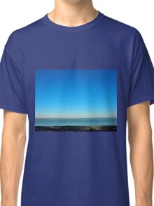 View of the sea and the horizon with the coastline Classic T-Shirt