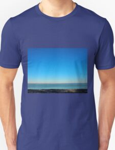 View of the sea and the horizon with the coastline T-Shirt