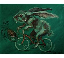 Bunny On A Bicycle Photographic Print
