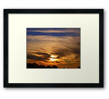 The sky at night  Framed Print