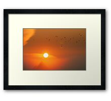 A mysterious morning Framed Print
