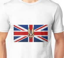 Special Air Service - S A S Badge over U K Flag Unisex T-Shirt