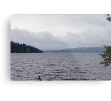 Overcast Lake Washington Metal Print