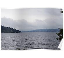 Overcast Lake Washington Poster