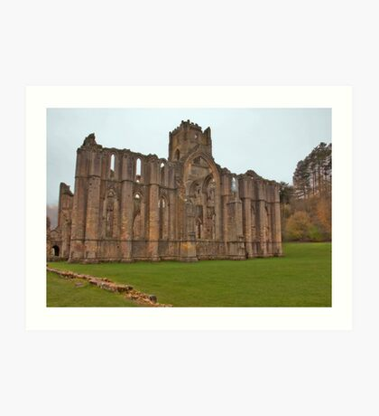 The Ruins of Fountains Abbey Art Print