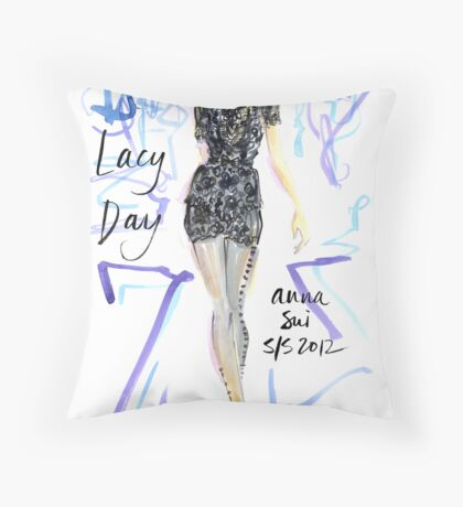 Lacy Day! Throw Pillow