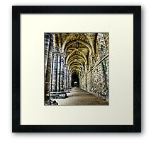At the side of the Nave  - Kirkstall Abbey Framed Print