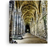 At the side of the Nave  - Kirkstall Abbey Canvas Print