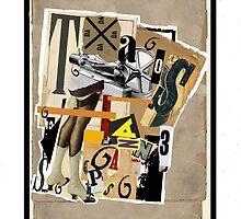 Dada Tarot- 6 of Batons by Peter Simpson