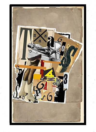Dada Tarot- 6 of Batons by Peter Simpson