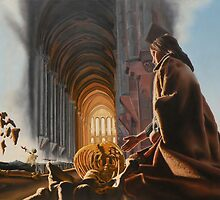 "Surreal Cathedral - oil on canvas - 50"" x 31"" by Dave Martsolf"