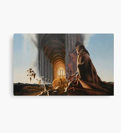 """Surreal Cathedral - oil on canvas - 50"""" x 31"""" Canvas Print"""