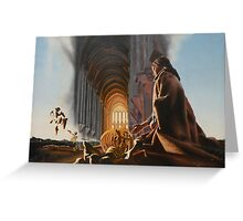 "Surreal Cathedral - oil on canvas - 50"" x 31"" Greeting Card"
