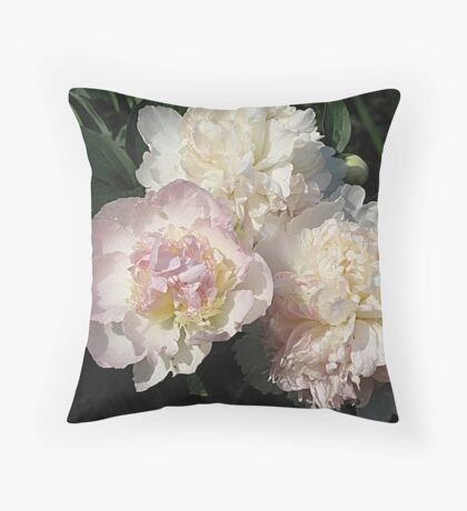 Pink Peony Punch Throw Pillow