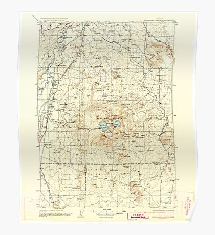 USGS Topo Map Oregon Newberry Crater 283234 1935 125000 Poster