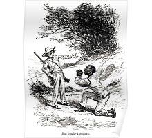 Achille Sirouy Mark Twain Les Aventures de Huck Huckleberry Finn illustration p056 Poster