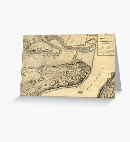 Map of the Province of Quebec Canada by William Faden (1776) Greeting Card
