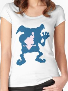 PKMN Silhouette - Mr. Mime Family Women's Fitted Scoop T-Shirt