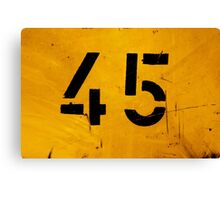 Number 45 Canvas Print