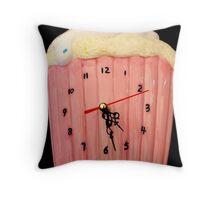 Cupcake Clock. Throw Pillow