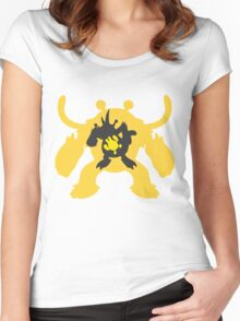PKMN Silhouette - Electabuzz Family Women's Fitted Scoop T-Shirt