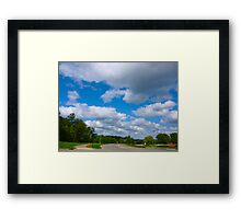 October Clouds By Jonathan Green Framed Print