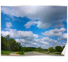 October Clouds By Jonathan Green Poster