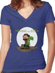 Imagination Mash-up Women's Fitted V-Neck T-Shirt