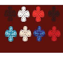 Set varicoloured cross, illustration Photographic Print